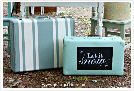 painted suitcases 1