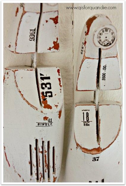 shoe forms close up