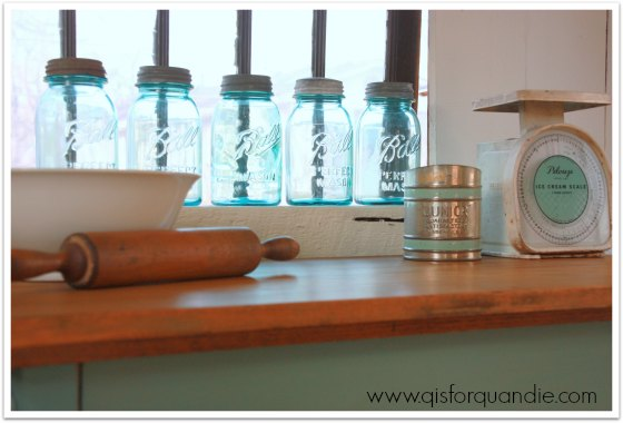 kitchen island staging 2