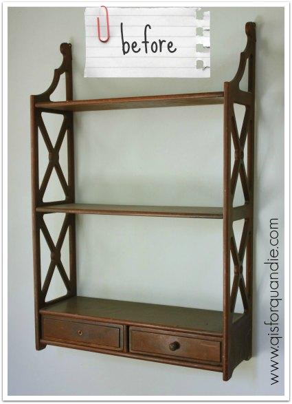 shelf before