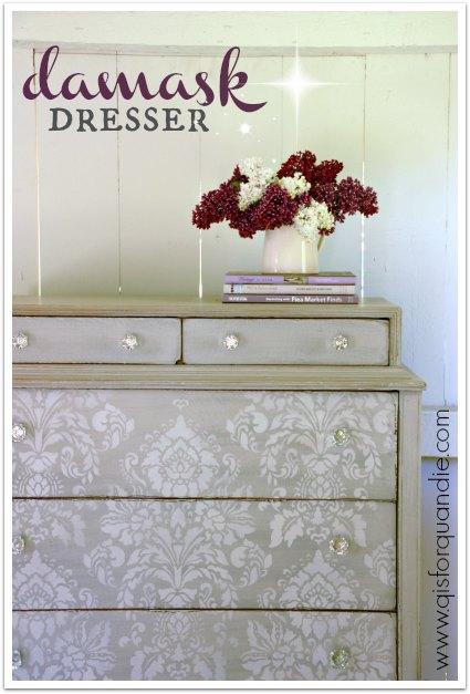 damask dresser title