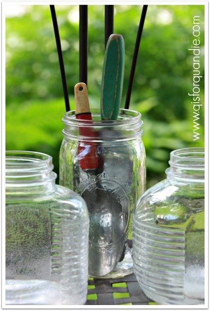 dl jars and vintage kitchen items