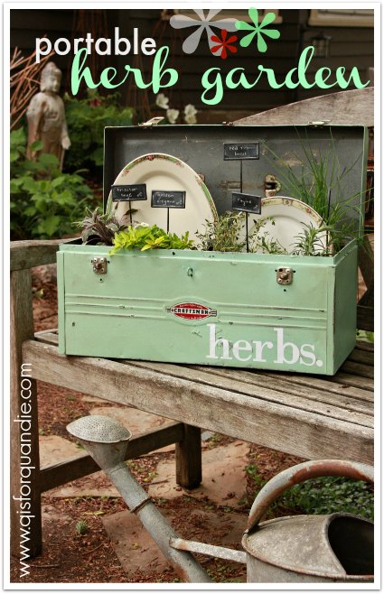 a portable herb garden and a Fusion giveaway.