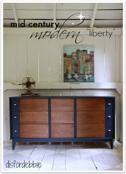 "MCM dresser painted in Fusion's ""Liberty"""
