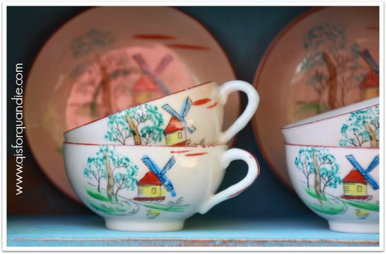 vintage china close up