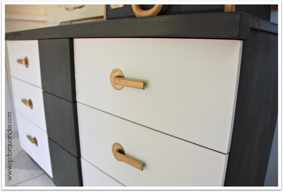 black and white MCM dresser