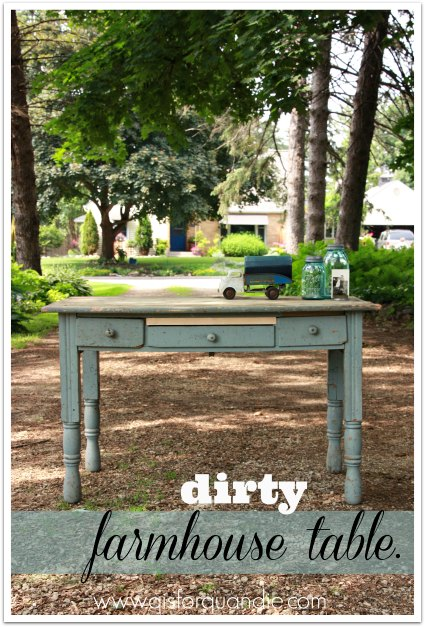 dirty farmhouse table