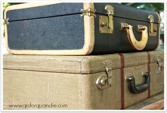 lucky vintage luggage