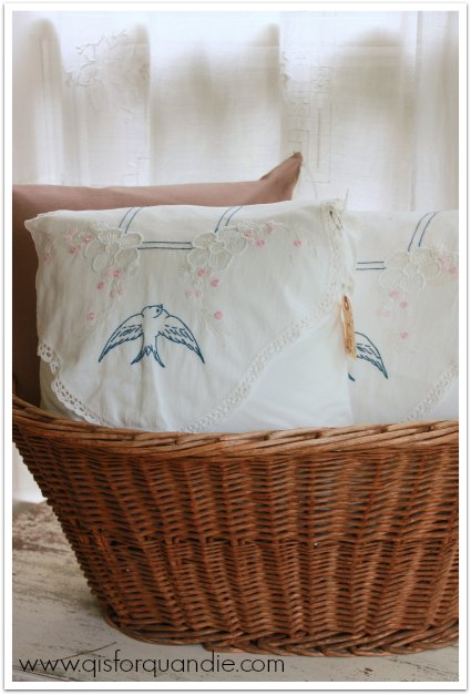 pillows in a basket