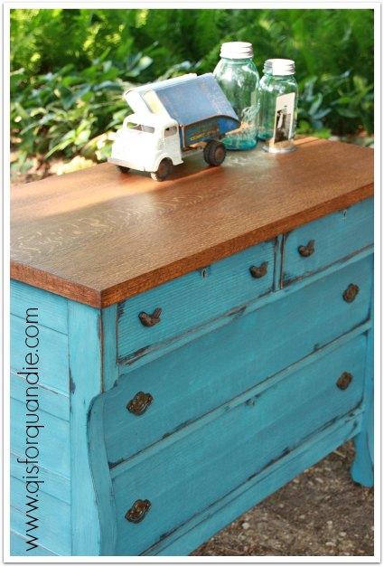 blue dresser top