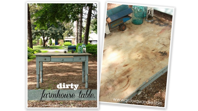farmhouse table collage