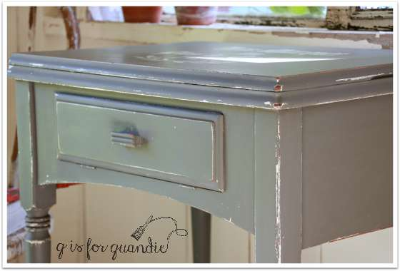 grey table close up