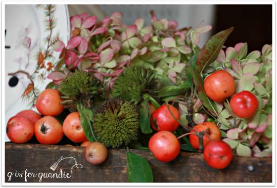 fall table arrangement