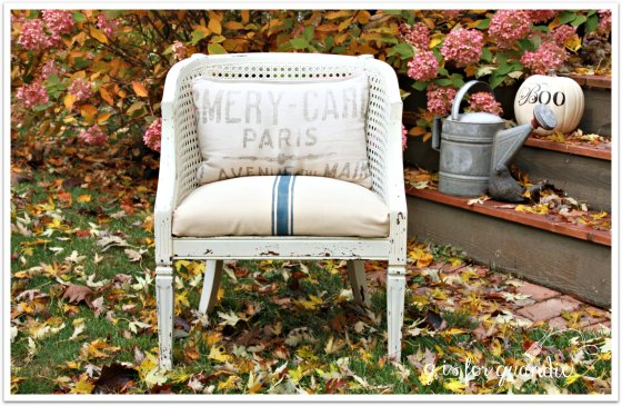 barrel chair in fall