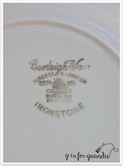 ironstone plate mark