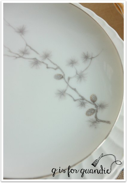 plates silver pine