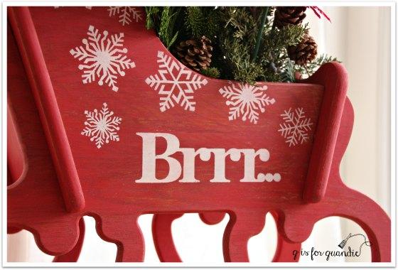 debbies sleigh side