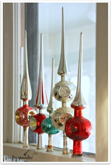 vintage Christmas tree toppers