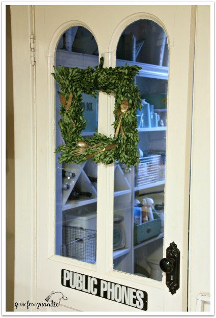 wreath on door