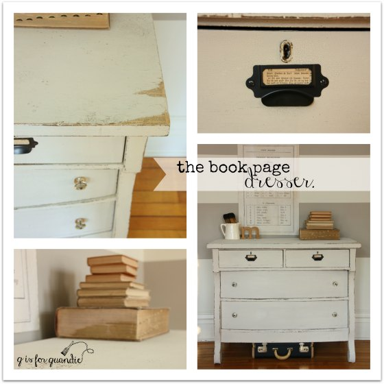 book page dresser collage