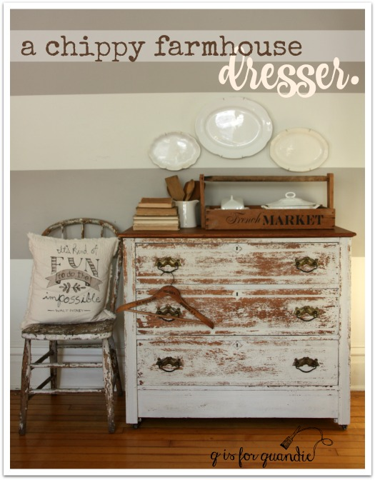 chippy farmhouse dresser