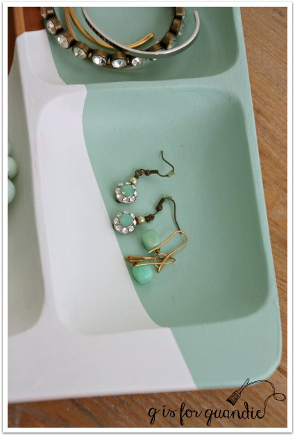 copper bowl aqua earrings