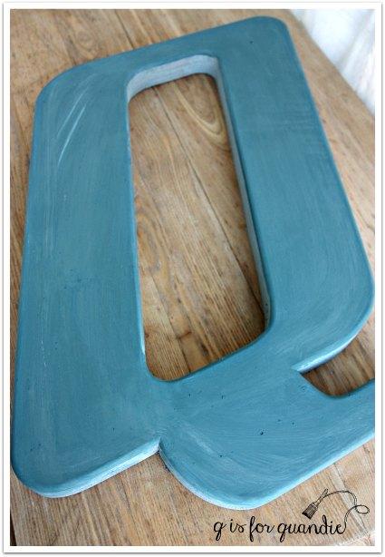 q in blue