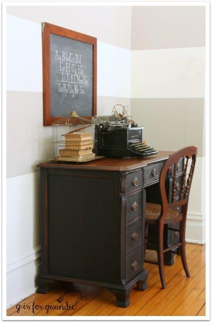 black desk angle