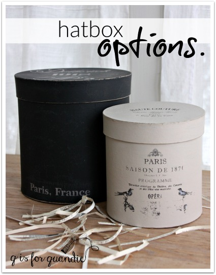 hatbox options