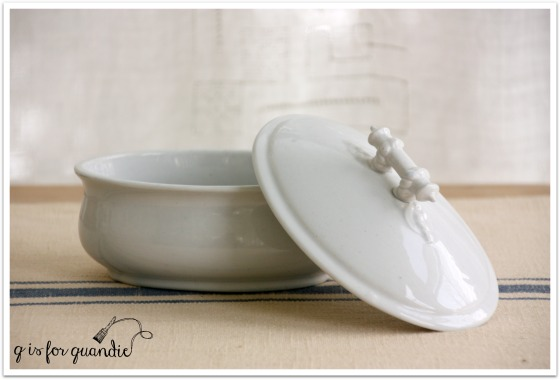 ironstone soap dish