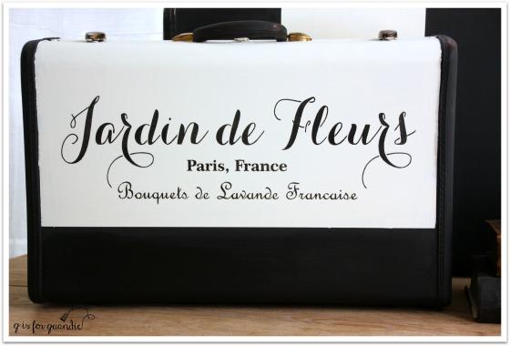 jardin de fleurs suitcase