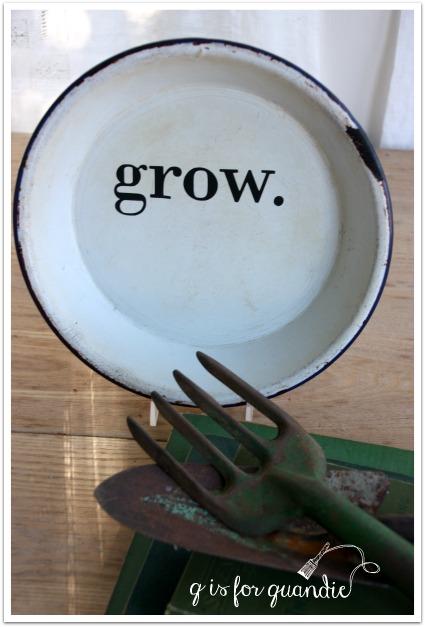 enamelware grow plate