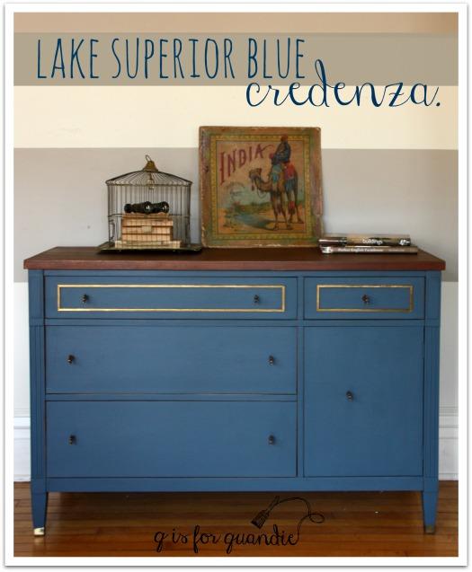 lake superior blue credenza