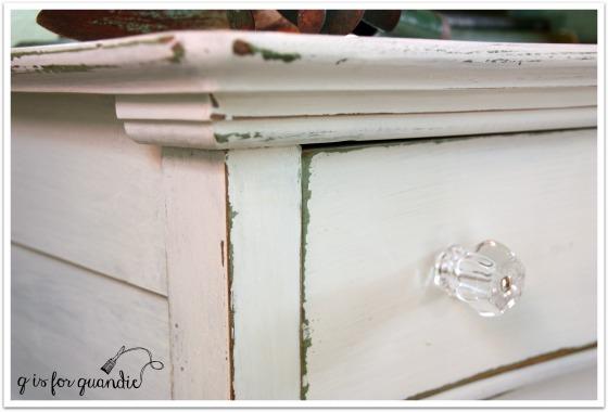 potting shed dresser close up