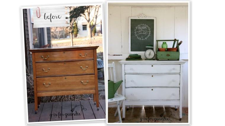 potting shed dresser collage