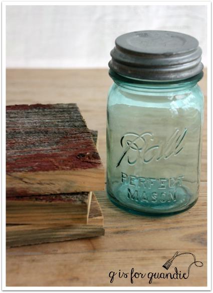 barn wood and ball jar