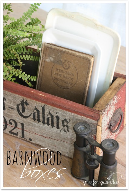barn wood boxes title