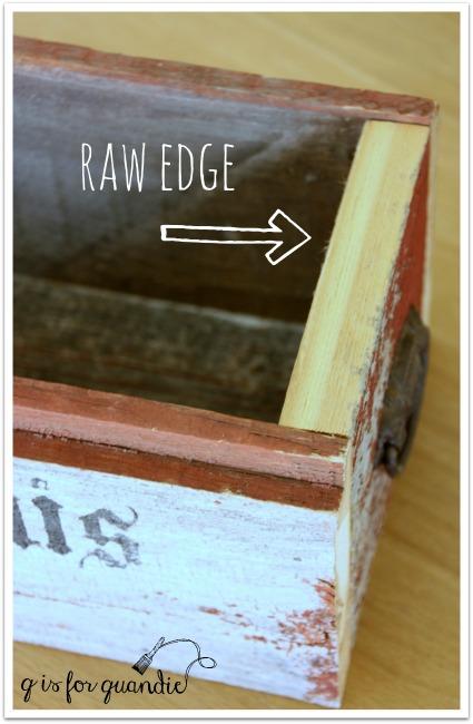 barn wood raw edge