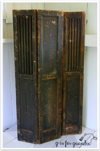 black shutters