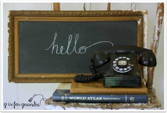 chalkboard hello