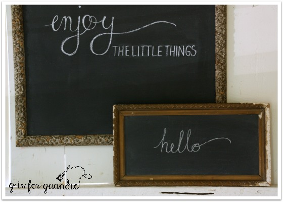 chalkboards closeup