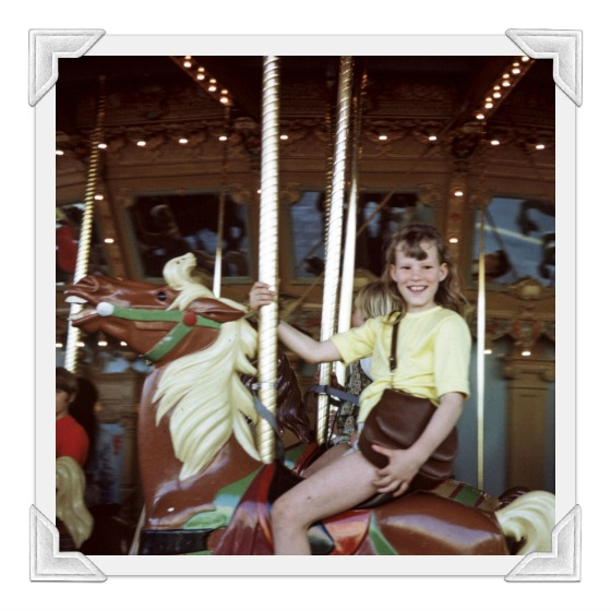 deb on carousel