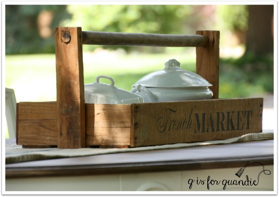 french market tote with ironstone