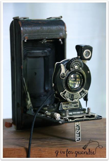vintage camera extended