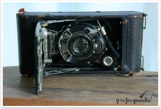 vintage camera inside
