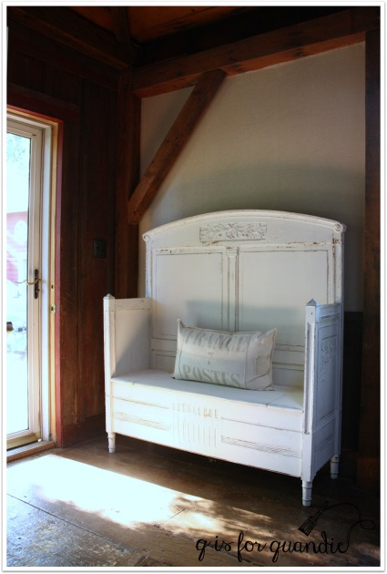 bench in room