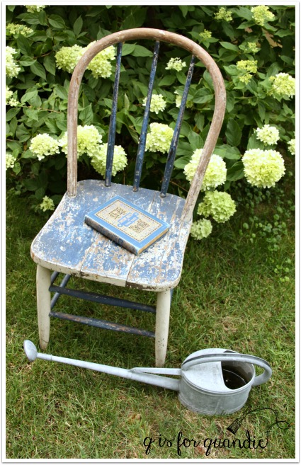 crusty blue chair