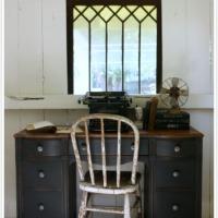 a thrift store desk.