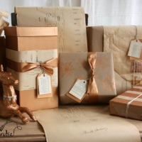 elegant gift wrap on a budget.