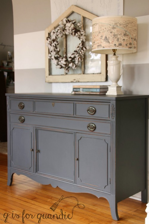 the queenstown gray buffet q is for quandie. Black Bedroom Furniture Sets. Home Design Ideas